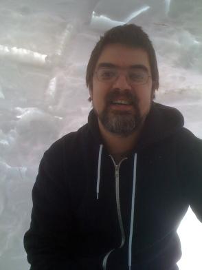 Ethan in Igloo 2014