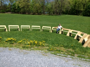 Don with Aldo Leopold Benches