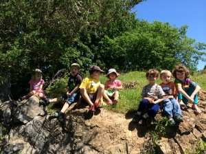 Nature camp unit on rocks, minerals, and geology