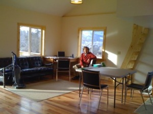 Don rests from preparing the Annex for the fall creative residency.